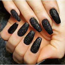 matte glitter coffin nails nails pinterest coffin nails