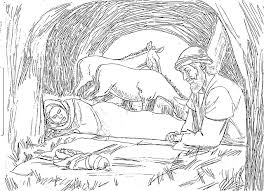 nativity coloring pages birth christ creativemove