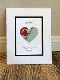 wedding gift map city map anniversary or wedding gift map heart one