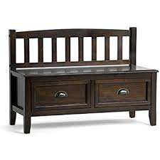 entry way storage bench amazon com simpli home adrien solid wood entryway storage bench