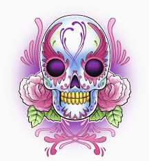 day of the dead skull with roses posters prints by corbis
