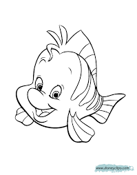 flounder coloring pages mermaid bltidm