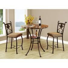 Pub Table And Chairs Set Acme Kleef 3 Piece Brown Bar Table Set 70560 The Home Depot