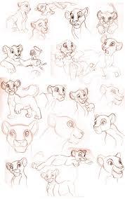 lion king sketches by sapphireluna on deviantart