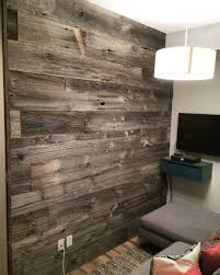 reclaimed grey barn board feature wall by barnboardstore