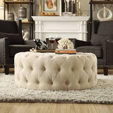 Fancy Ottomans White Tufted Ottoman Bonners Furniture