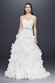 wedding skirt ruffled skirt wedding gown with embellished waist david s bridal