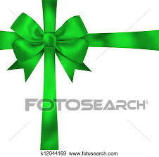 green gift bow stock illustration of gift green ribbon and bow isolated on white
