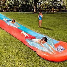 slip slide double racer backyard water slide inflatable kids long