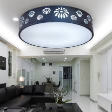 Round Fluorescent Light Fixture Covers by Interior Round Black Pattern Fluorescent Light Covers For Elegant