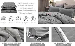 How To Change A Duvet Cover Amazon Com Duvet Cover Set With Zipper Closure Grey Diamond
