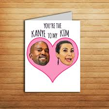 kanye valentines card and kanye west card valentines card anniversary card