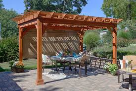 Outdoor Pergola Kits by Traditional Pine Pergola From Dutchcrafters Amish Furniture