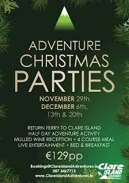 christmas party adventure team building clare island