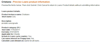 chapter how to define new and change existing loan products
