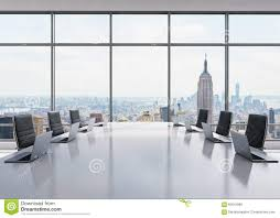 Conference Room Chairs Leather A Conference Room Equipped By Modern Laptops In A Modern Panoramic