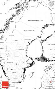 Map Sweden Blank Simple Map Of Sweden
