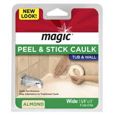 magic 1 5 8 in x 11 ft tub and wall peel and stick caulk strip