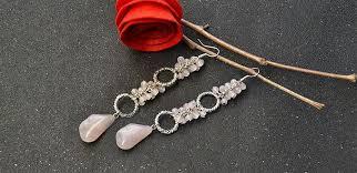 make dangle earrings easy earring designs how to make pink dangle earrings with
