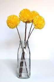 Yellow Pom Pom Flowers - we can make anything pom pom flowers