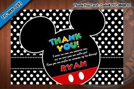 mickey mouse thank you cards mickey mouse thank you card digital mickey mouse thank you