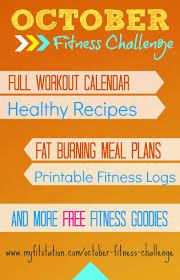 Challenge Tips October Fitness Challenge Workout Calendar