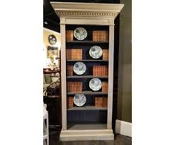 pair of cream painted bookcases