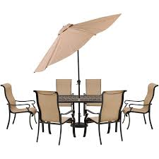 Outdoor Patio Dining Sets With Umbrella - brigantine 7 piece dining set with 9 ft table umbrella brigdn7pc su