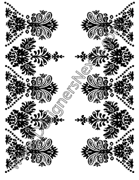 fashion vector graphic v1 ornament border with paisley elements