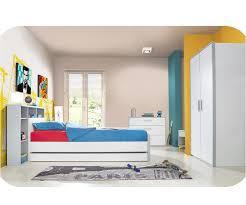 chambre timeo enfant timéo blanche et grise set de 5 meubles