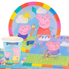 peppa pig party supplies peppa pig theme 8 person value party pack partyrama