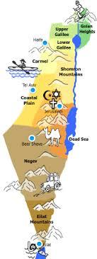negev desert map walk in