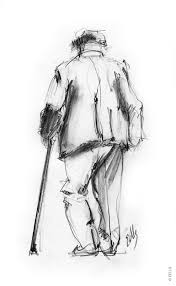 the daily sketch duane eells walking man pencil sketch