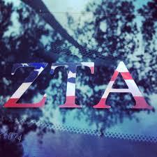 Flag Car Decals Zeta Tau Alpha American Flag Car Decal Http Twykdecals Com