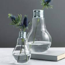 lightbulb vase by london garden trading notonthehighstreet com
