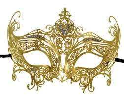 gold masquerade mask gold laser cut masquerade mask with clear rhinestones