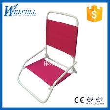 Folding Low Beach Chair Lightweight Aluminum Folding Outdoor Sand Chair Low Sand Beach