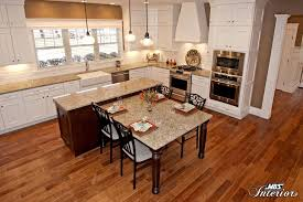 kitchen island with attached table kitchen design trends 2015 from mbs interiors