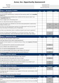 opportunity assessment template sales benchmark index