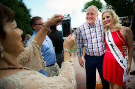 File Ambassador Bruce Heyman Celebrates July 4 With The Watermelon