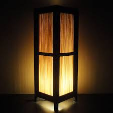 brown l shades table ls 15 tall asian oriental japanese bamboo zen art bedside floor table