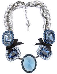 blue crystal statement necklace images Betsey johnson iconic crystal statement necklace jpg