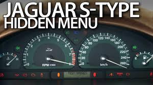 jaguar s type hidden menu instrument cluster test mode youtube