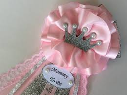 pink and silver baby shower princess baby shower corsage pink and silver baby shower