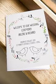 wedding booklets order of service booklets with boho floral print rustic wedding