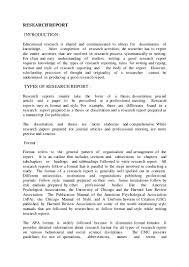 how to write a report on a research paper research report