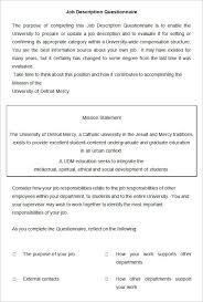 Hr Help Desk Job Description 30 Hr Questionnaires Templates Hr Templates Free U0026 Premium