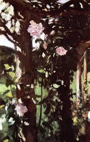 a rose trellis roses at oxfordshire c 1886 john singer