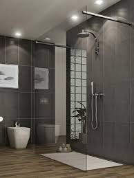 Bathroom Stall Doors Modern Bathroom With Modern Black Style Shower Stall And Black