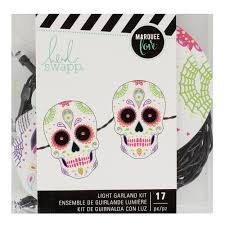 Halloween Garland Marquee Love Light Garland Kit Sugar Skull U2013 Heidi Swapp